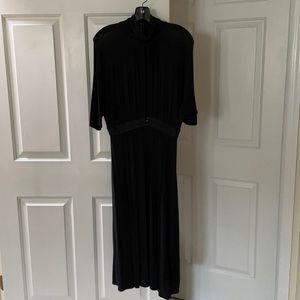 Theory Garin long black dress size small